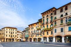 Romantic Market place at old town  Bassano del Grappa Royalty Free Stock Photography