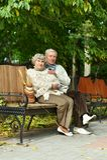 Romantic mature couple Royalty Free Stock Image