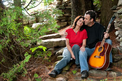 Romantic mature couples Stock Photography