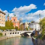 Romantic medieval Ljubljana, Slovenia, Europe. Royalty Free Stock Photography