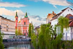 Romantic medieval Ljubljana, Slovenia, Europe. Stock Photography