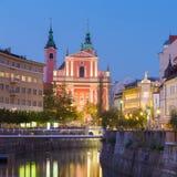 Romantic medieval Ljubljana, Slovenia, Europe. Stock Photo