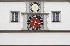 Romantic Medieval Town Clock Stock Photography