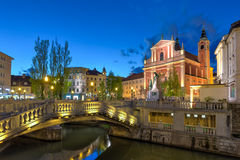 Romantic medieval town of Ljubljana, Slovenia, Europe. Royalty Free Stock Photography