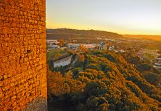 Romantic medieval village of Óbidos Stock Image
