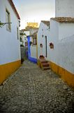Romantic medieval village of Óbidos Stock Photos