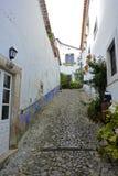 Romantic medieval village of Óbidos Stock Photos