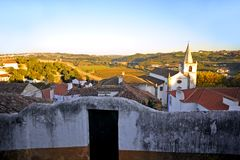 Romantic medieval village of Óbidos Stock Image