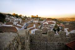 Romantic medieval village of Óbidos Stock Photo