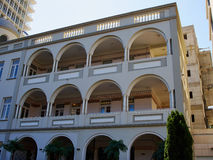Romantic Mediterranean European style classical building Tel-Avi Royalty Free Stock Images