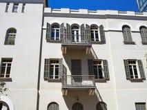 Romantic Mediterranean European style classical building Tel-Avi Royalty Free Stock Photo