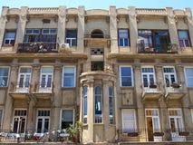 Romantic Mediterranean European style classical building Tel-Avi Royalty Free Stock Photos