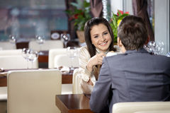 Romantic meeting Royalty Free Stock Photography