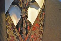 Romantic men's wedding suit. Edwardian style romantic men's wedding suit with shirt and tie Stock Photos