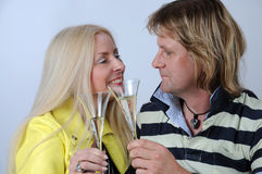 Romantic mid aged couple Stock Photography