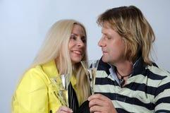 Romantic mid aged couple Stock Image