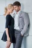 Romantic Middle Age Lovers Fashion Shoot Royalty Free Stock Photo