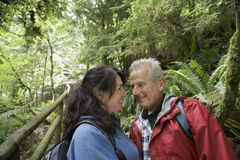 Romantic Middle Aged Couple In Forest Stock Photos