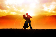 Romantic Moment Royalty Free Stock Photos
