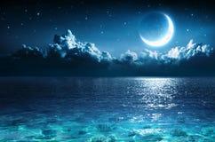 Romantic Moon On Sea royalty free stock image