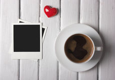 Romantic morning coffee Stock Photography