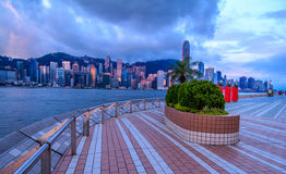 Romantic Morning Hong Kong City View Royalty Free Stock Photos