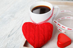 Romantic morning valentine greetings Royalty Free Stock Images