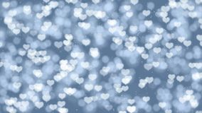 Romantic Mothers Day motion background with hearts bokeh. Seamless loop Valentines Day holiday animation. Perfect to use in any motion graphics project