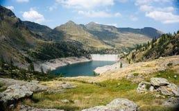 Romantic mountain lake in Alps Stock Photos