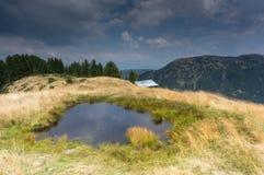 Romantic mountain lake in Alps Royalty Free Stock Photo