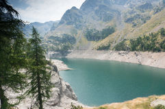 Romantic mountain lake in Alps Royalty Free Stock Images
