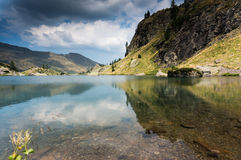 Romantic mountain lake in Alps Royalty Free Stock Photo