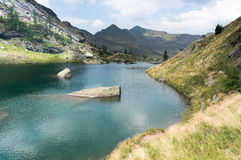 Romantic mountain lake in Alps Royalty Free Stock Image