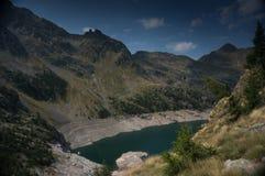 Romantic mountain lake in Alps Stock Image