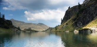 Romantic mountain lake in Alps Stock Photography