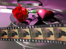 Romantic movie vector illustration