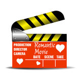 Romantic movie clapboard Stock Image