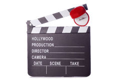 Romantic movie clapper board cutout Royalty Free Stock Photos