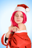 Romantic Mrs. Santa Royalty Free Stock Photo