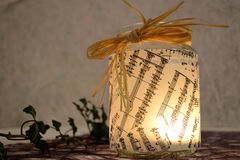 Romantic musical candlelight Royalty Free Stock Images