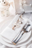 Romantic new year table set Stock Photography