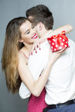 Romantic nice couple Royalty Free Stock Image