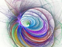 Nice spiral fractal. Romantic nice spiral fractal and background stock illustration