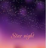 Romantic night gradient background. Royalty Free Stock Image