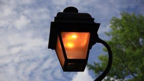 Romantic night street light Royalty Free Stock Photo