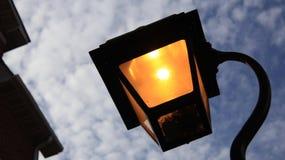 Romantic night street light Stock Photo