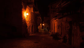 Romantic night street Royalty Free Stock Image