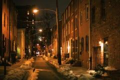 Romantic night streetlight Royalty Free Stock Photos