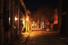 Romantic night streetlight Stock Image
