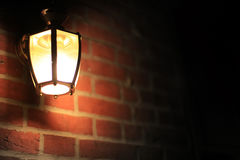 Romantic night streetlight. Romantic night street light in the city Royalty Free Stock Photography